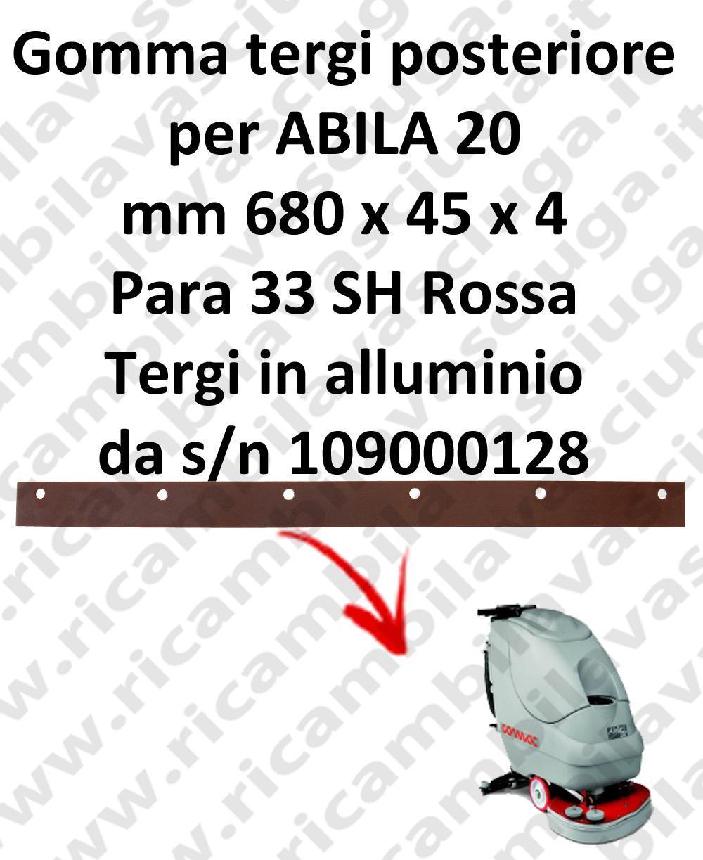 ABILA 20 Hinten Aluminium-Rakel von s/n 109000128 sauglippen für scheuersaugmaschinen COMAC