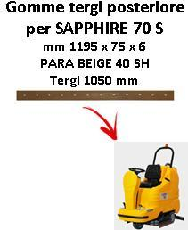 SAPPHIRE 70 S Hinten sauglippen für scheuersaugmaschinen ADIATEK