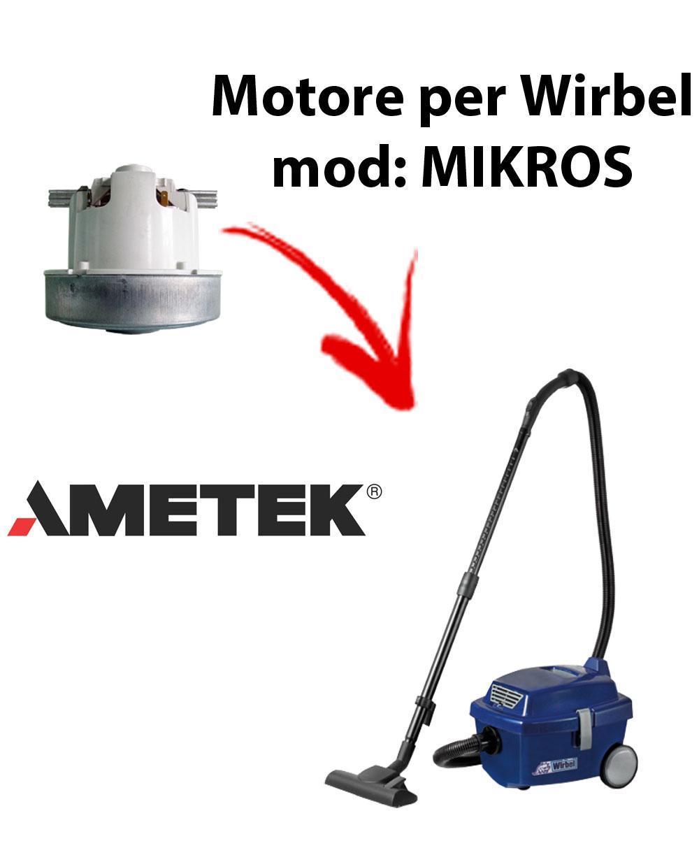 MIKROS Saugmotor AMETEK für Staubsauger WIRBEL