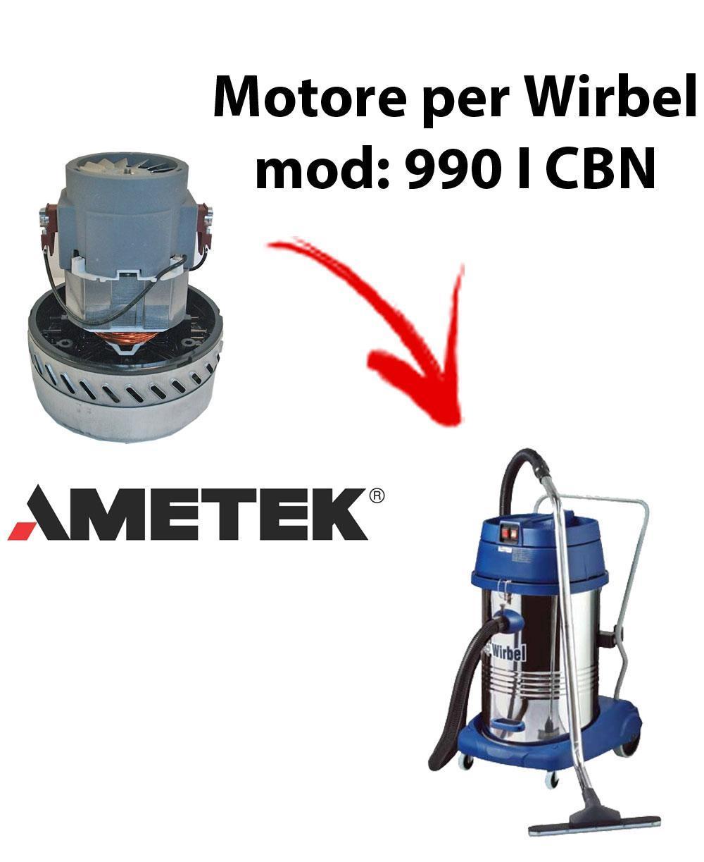 990 IK CBN Saugmotor AMETEK für Staubsauger und Trockensauger WIRBEL