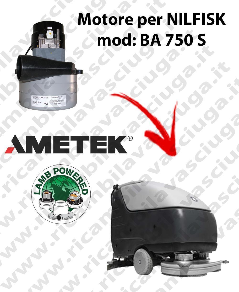 BA 750 S Saugmotor LAMB AMETEK für scheuersaugmaschinen NILFISK