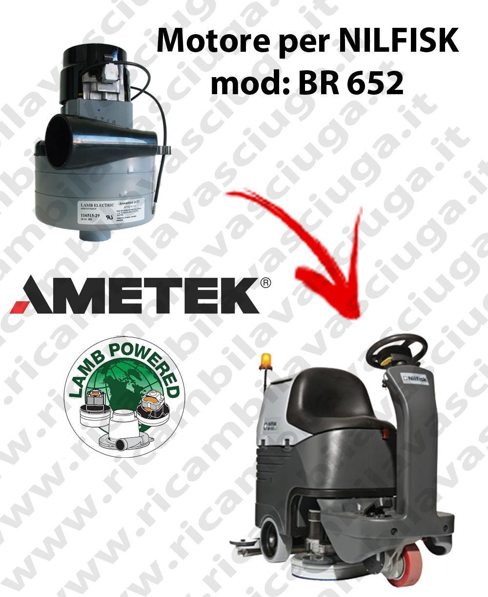 BR 652 Saugmotor LAMB AMETEK für scheuersaugmaschinen NILFISK