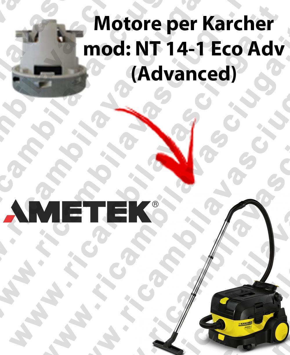 NT 14-1 Eco ADV (Advanced) Saugmotor AMETEK für Staubsauger KARCHER