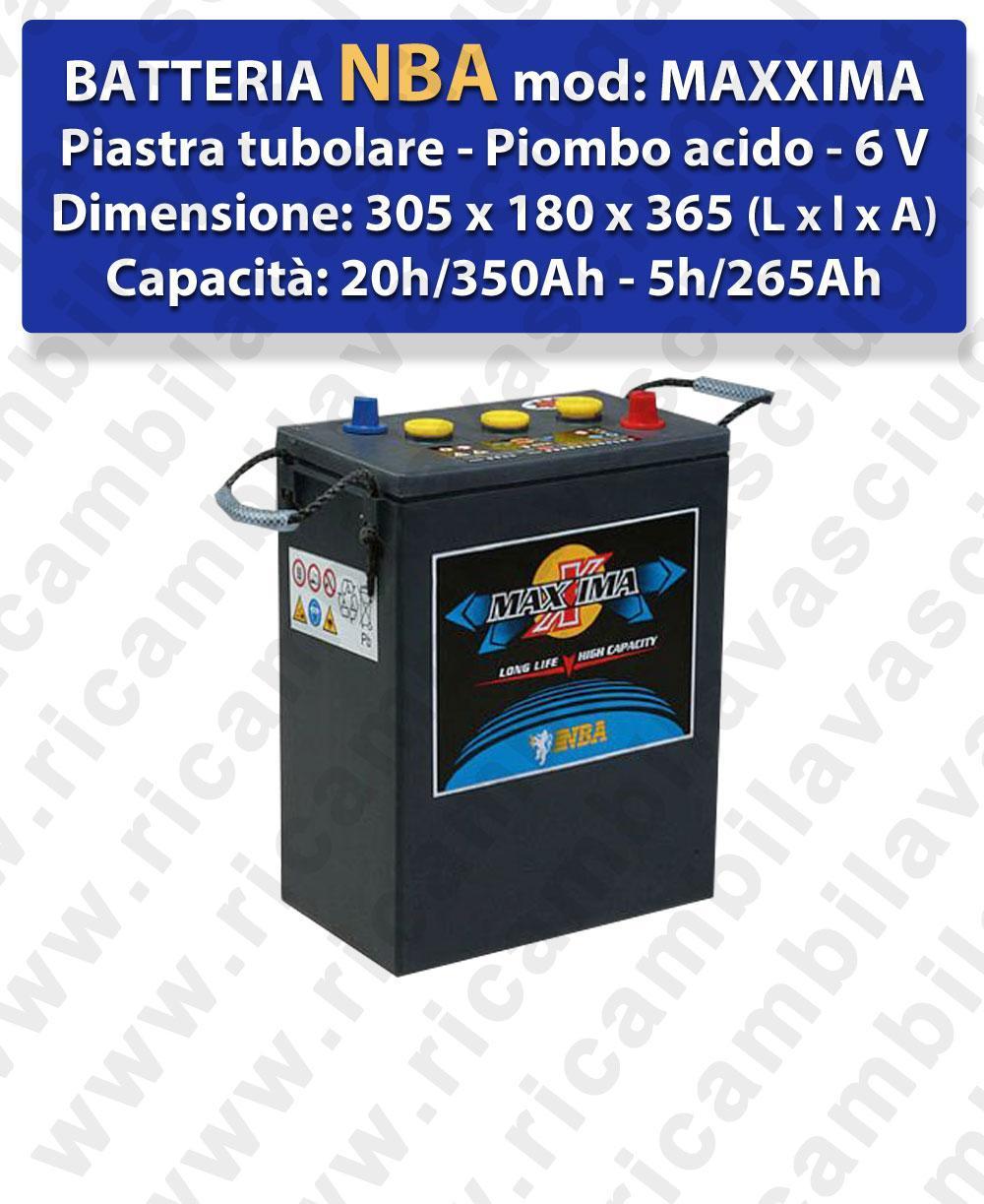 MAXXIMA Blei Batterie 6V 350Ah 20/h NBA