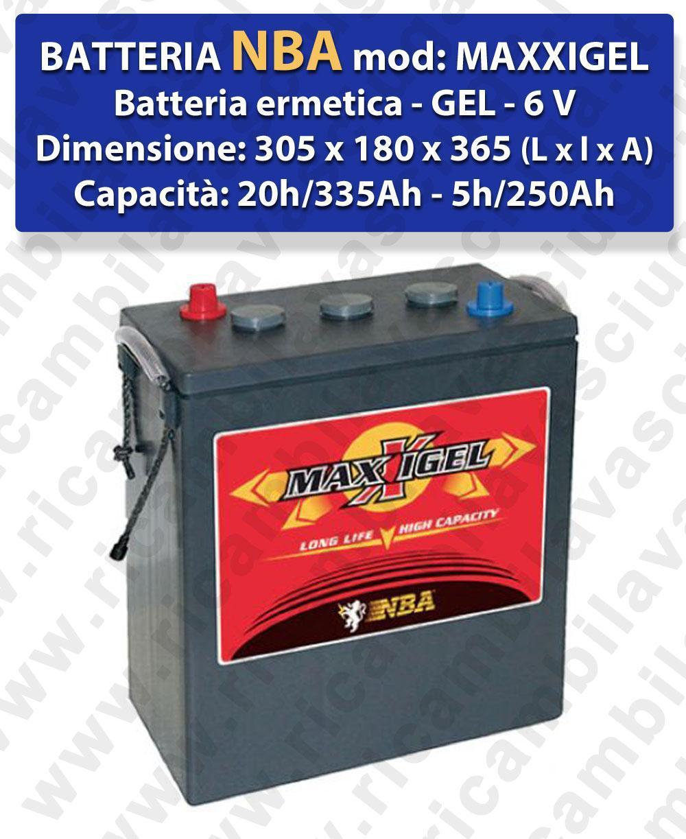 MAXXIGEL Hermetische Batterie - Gel 6V 335Ah 20/h NBA