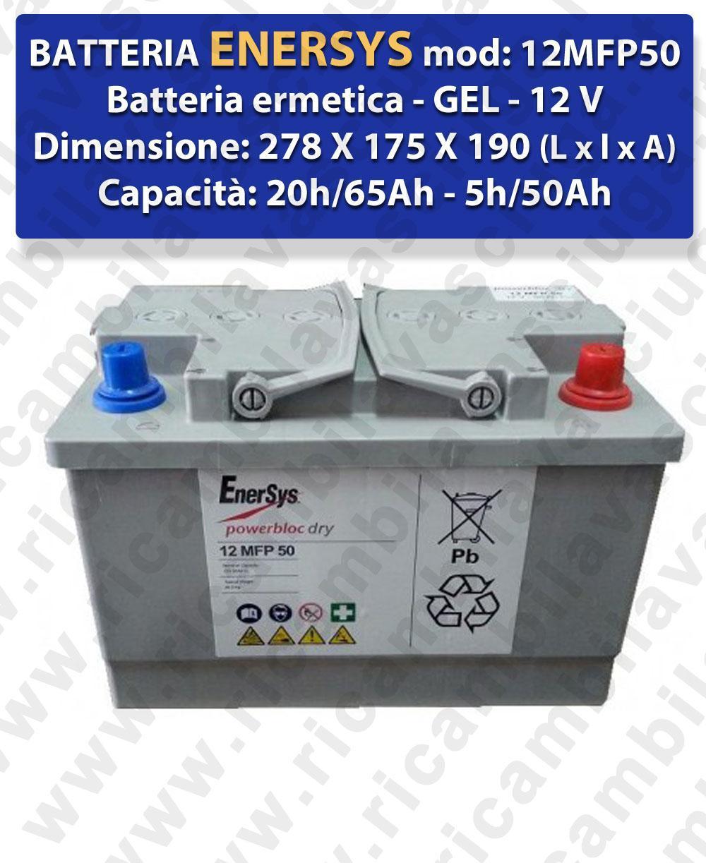 12MFP50 Hermetische Batterie - Gel 12V 65Ah 20/h ENERSYS