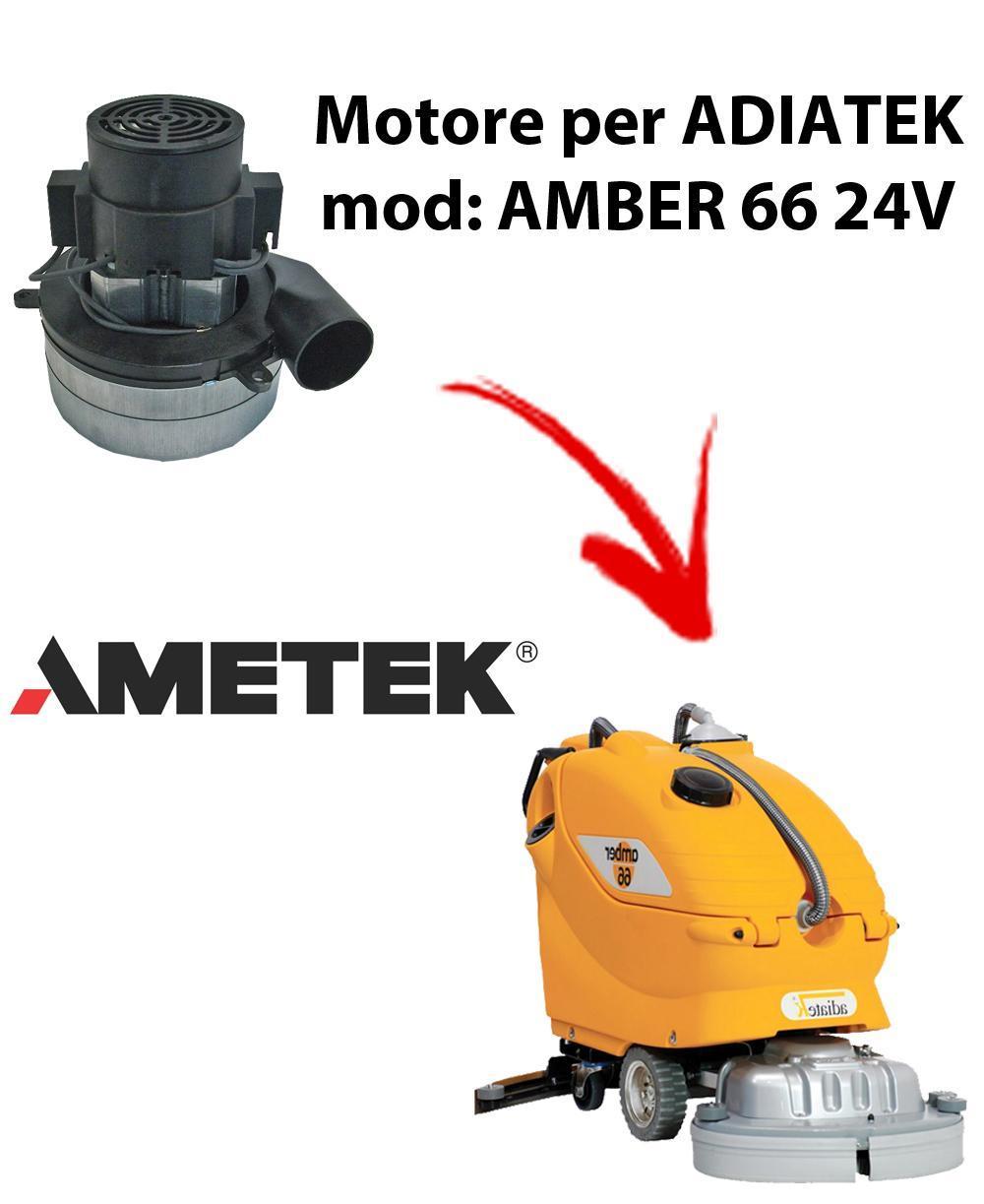 Amber 66 - 24 volt MOTEUR ASPIRATION AMETEK ITALIA pour autolaveuses Adiatek
