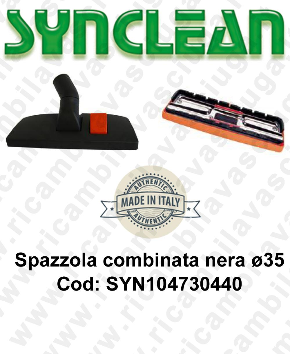 SYN104730440 Schwarz Kombinierter Bürsten ø 35 für Staubsauger und elektrischer besen