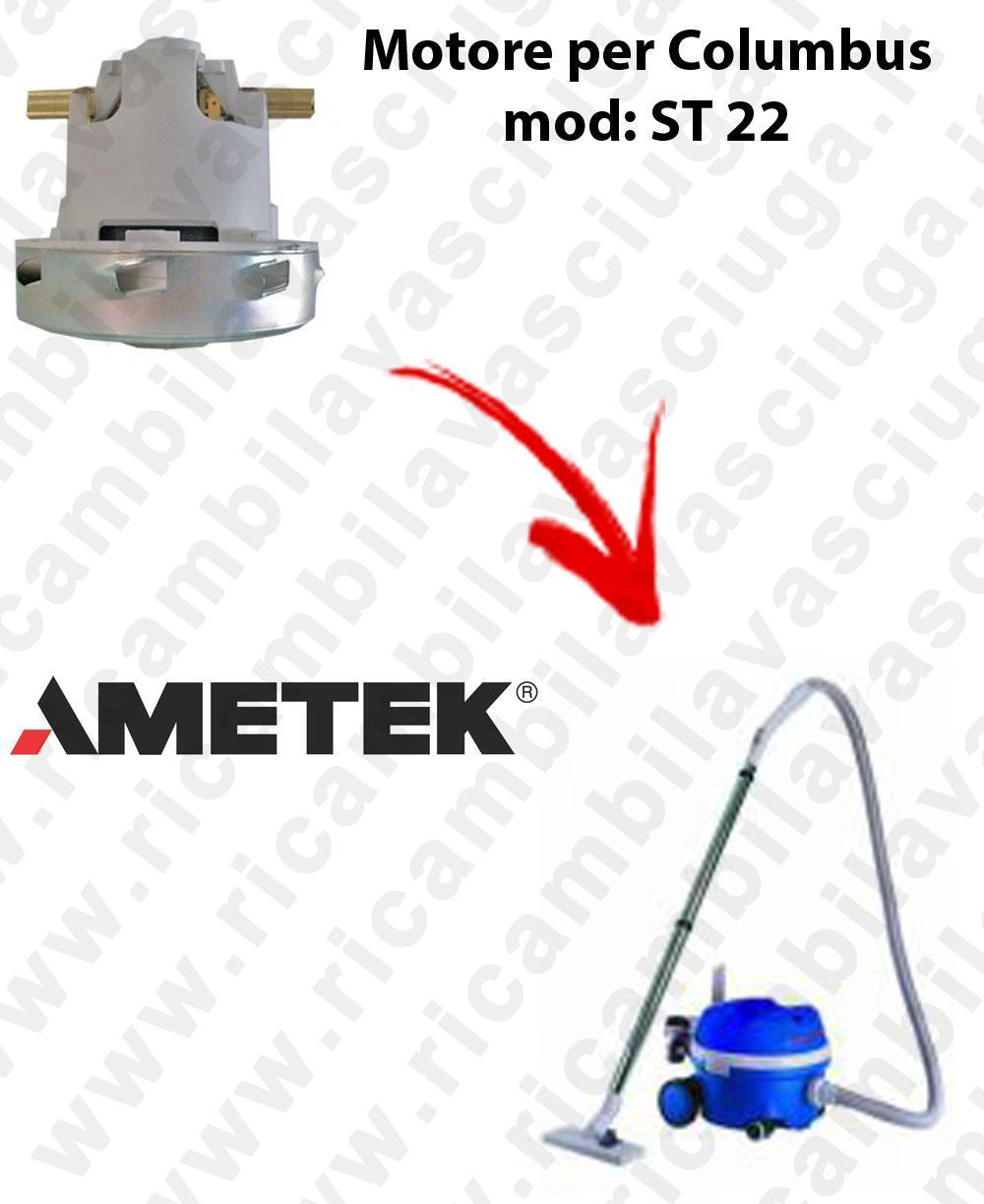 ST 22 Saugmotor AMETEK für Staubsauger COLUMBUS