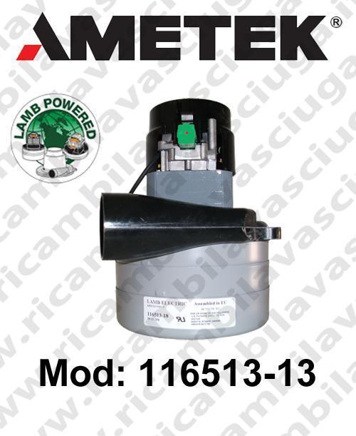 MOTEUR ASPIRATION 116513-13 LAMB AMETEK pour autolaveuses