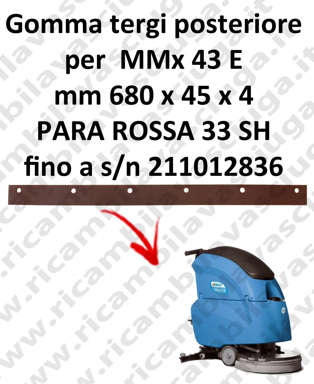 MMx 43 ünd bis zur Seriennummer 211012836 Hinten sauglippen für scheuersaugmaschinen FIMAP