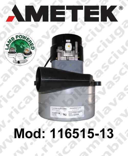MOTEUR ASPIRATION 116515-13 LAMB AMETEK  pour autolaveuses