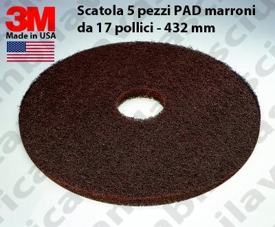 PAD 3M 5 PIECES couleur MARRON de 17 pouce - 432 mm