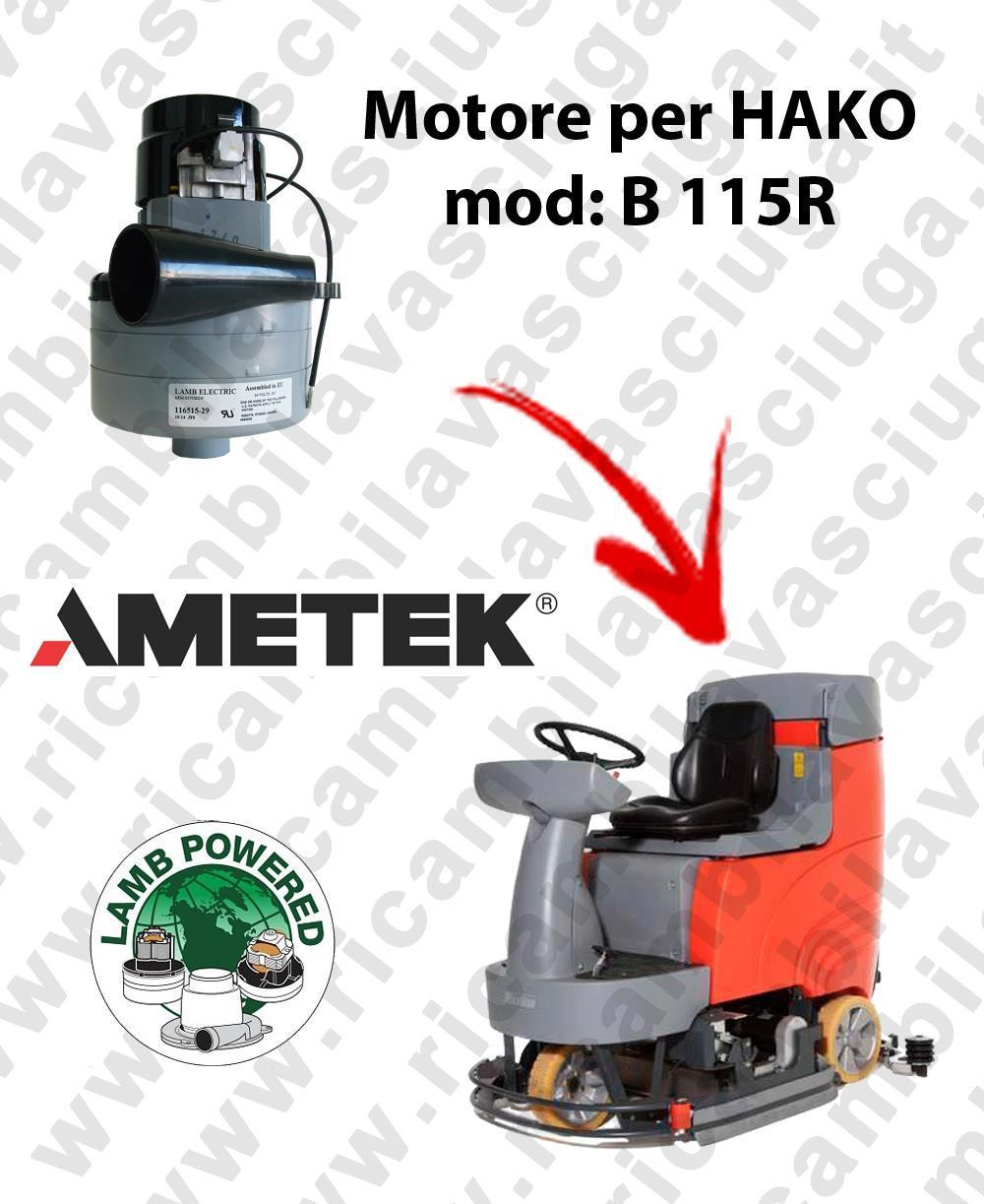B 115R Saugmotor LAMB AMETEK für scheuersaugmaschinen HAKO