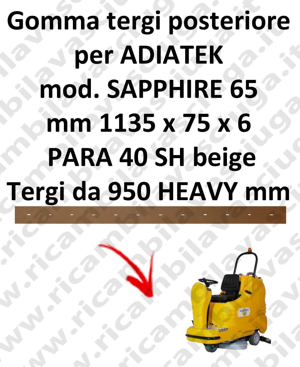 SAPPHIRE 65 BAVETTE ARRIERE pour autolaveuses ADIATEK (suceur long 950 mm)