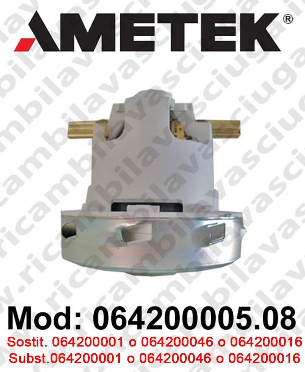 MOTEUR ASPIRATION 064200005.08 AMETEK ITALIA pour autolaveuses et aspirateur. Remplace 064200001 o 064200016 o 064200046