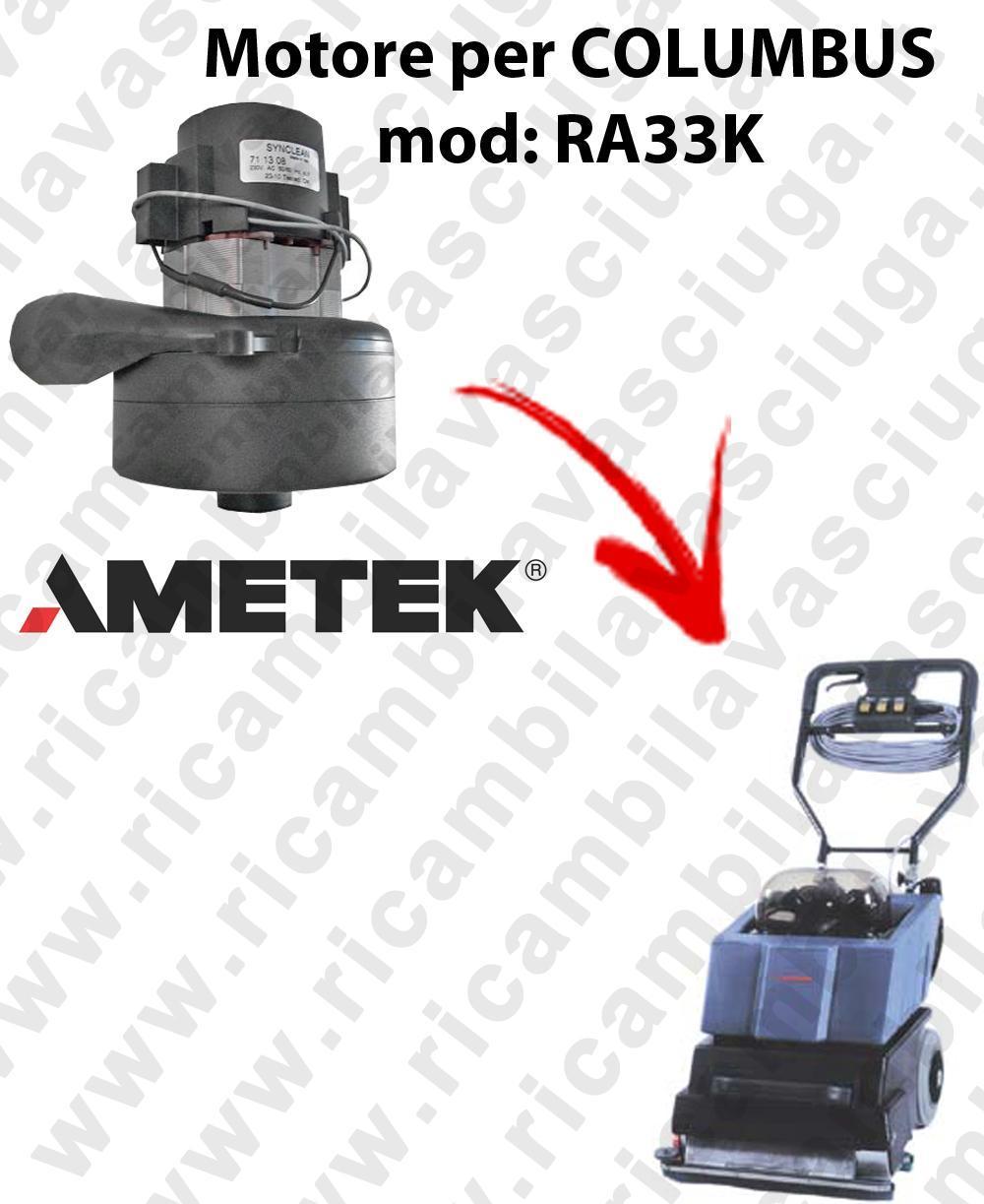 RA33K Saugmotor AMETEK für scheuersaugmaschinen COLUMBUS