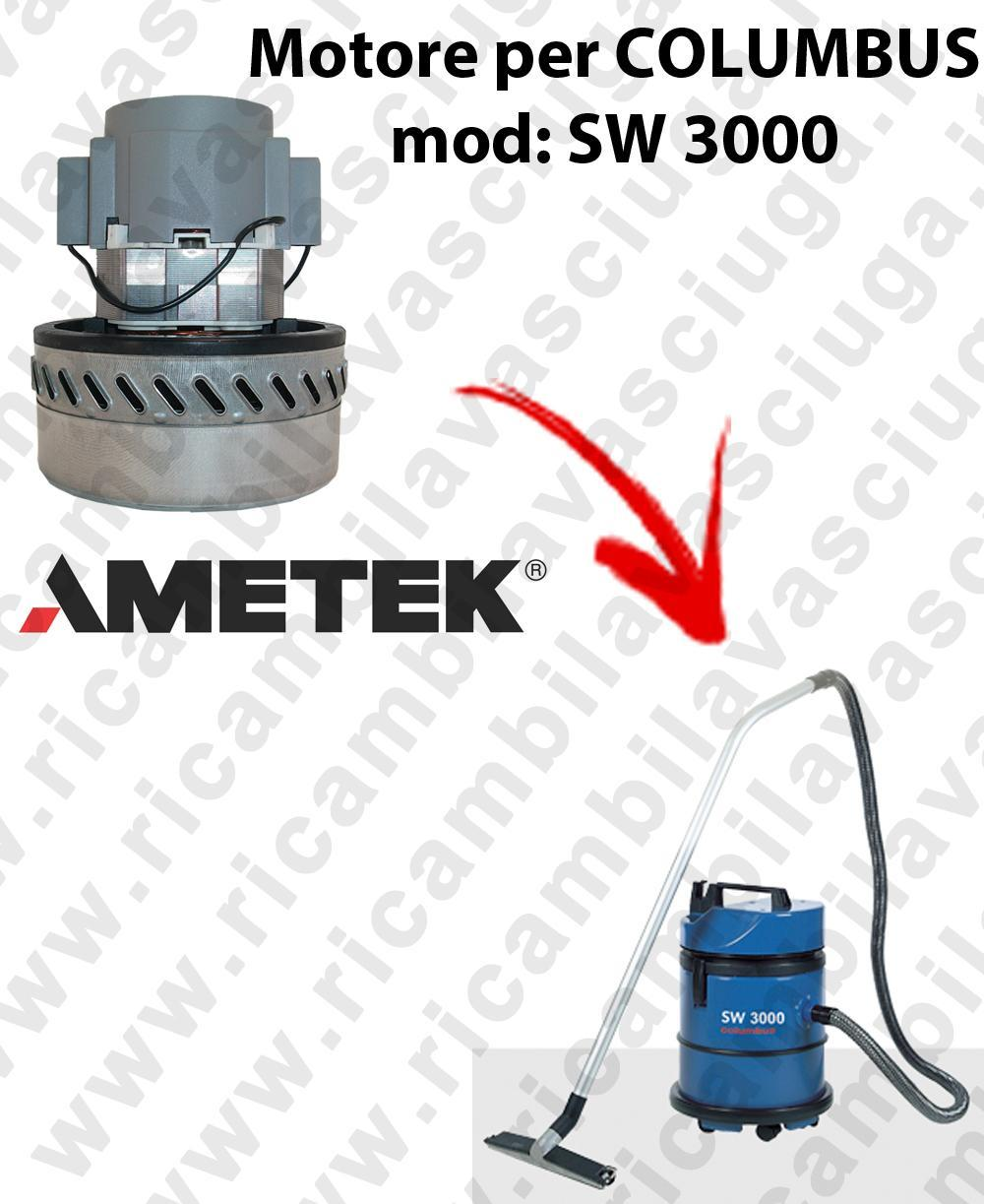 SW 3000 Saugmotor AMETEK für Staubsauger COLUMBUS