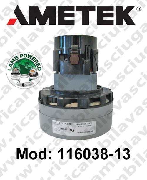 MOTEUR ASPIRATION 116038-13 LAMB AMETEK pour autolaveuses