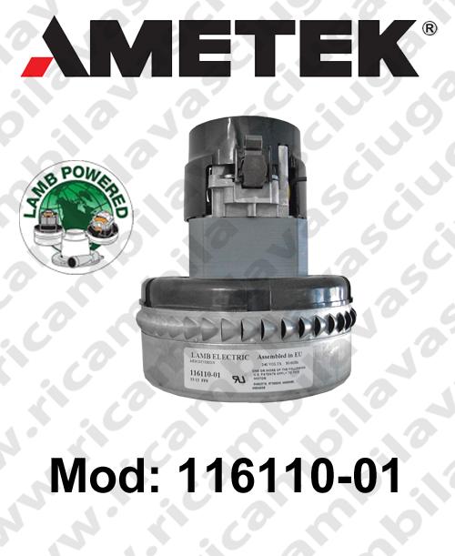 MOTEUR ASPIRATION LAMB AMETEK 116110-01 pour autolaveuses et aspirateur