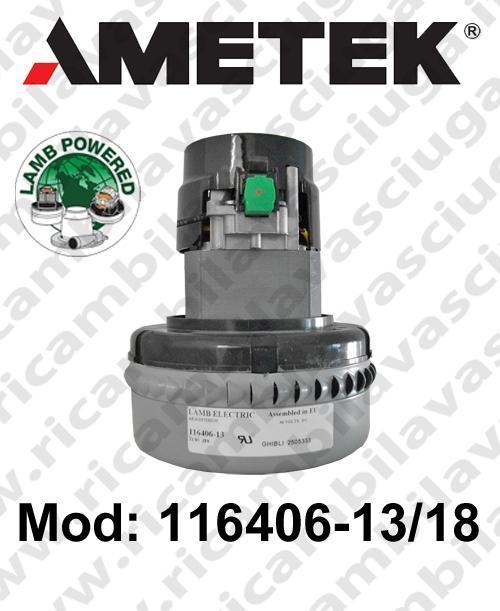 MOTEUR ASPIRATION 116406-13/18 LAMB AMETEK pour autolaveuses
