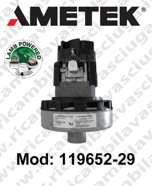 MOTEUR ASPIRATION 119652-29 LAMB AMETEK  pour autolaveuses