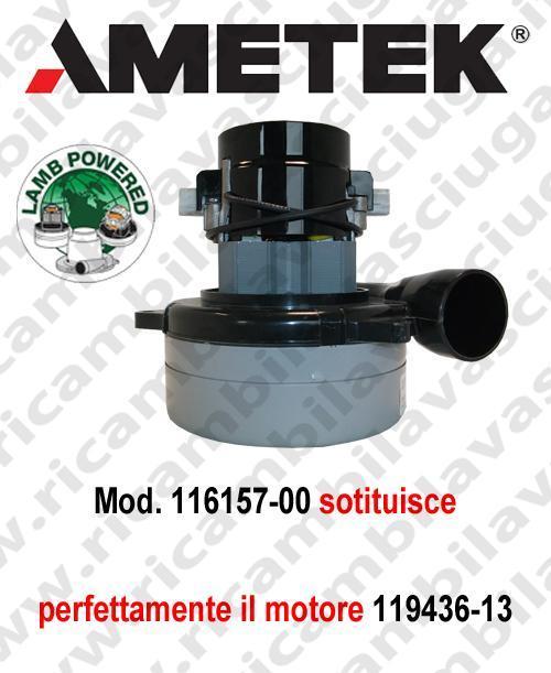 MOTEUR ASPIRATION 116157-00 valide anche pour 119436-13 LAMB AMETEK pour autolaveuses