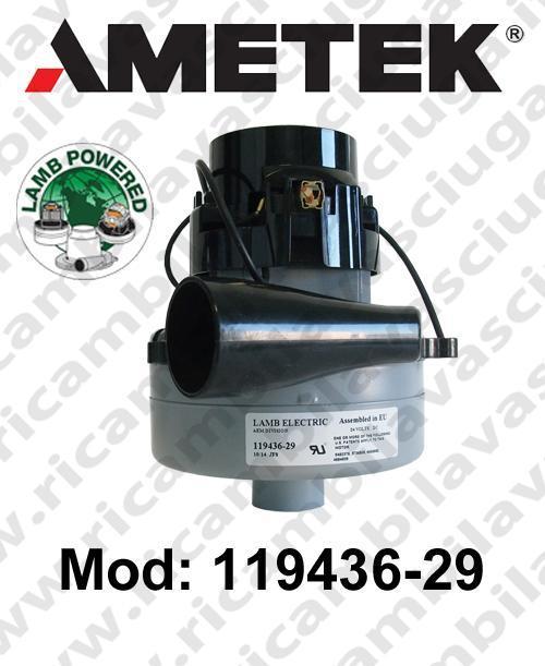 MOTEUR ASPIRATION 119436-29 LAMB AMETEK pour autolaveuses