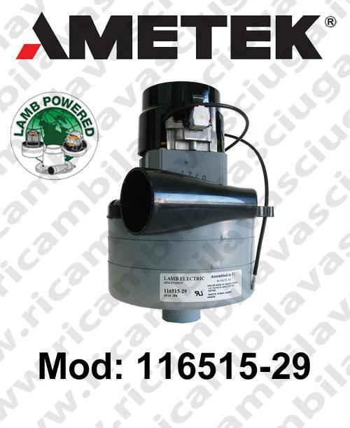 MOTEUR ASPIRATION 116515-29 LAMB AMETEK pour autolaveuses