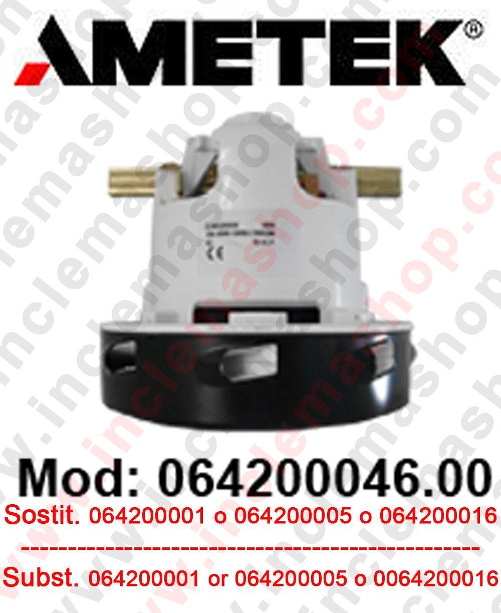 MOTEUR ASPIRATION AMETEK 064200046.00 pour autolaveuses et aspirateur. Remplace il  064200001 o 064200005 o 064200016