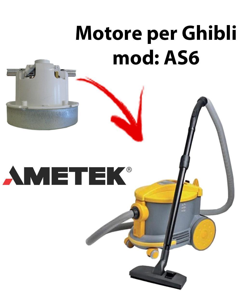 AS6  MOTEUR ASPIRATION AMETEK pour aspirateur GHIBLI
