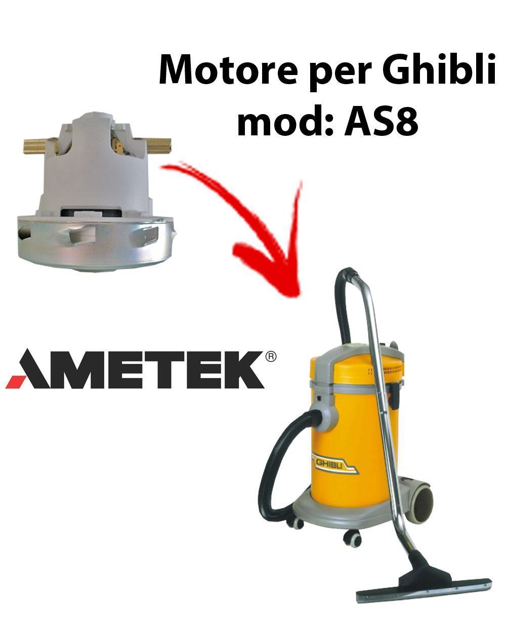 AS8  MOTEUR ASPIRATION AMETEK pour aspirateur GHIBLI