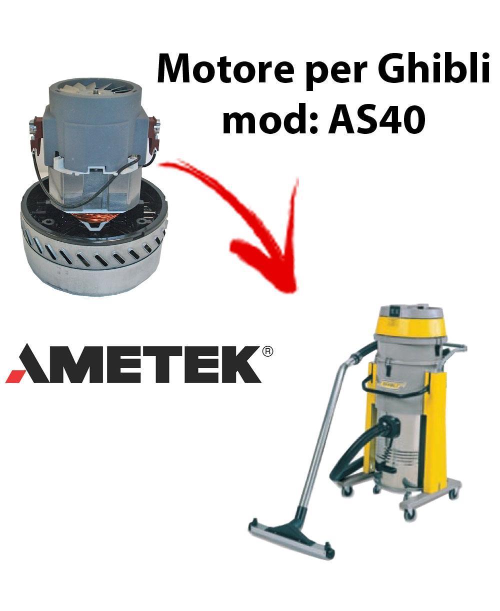 AS40  MOTEUR ASPIRATION AMETEK pour aspirateur et aspirateur à eau GHIBLI