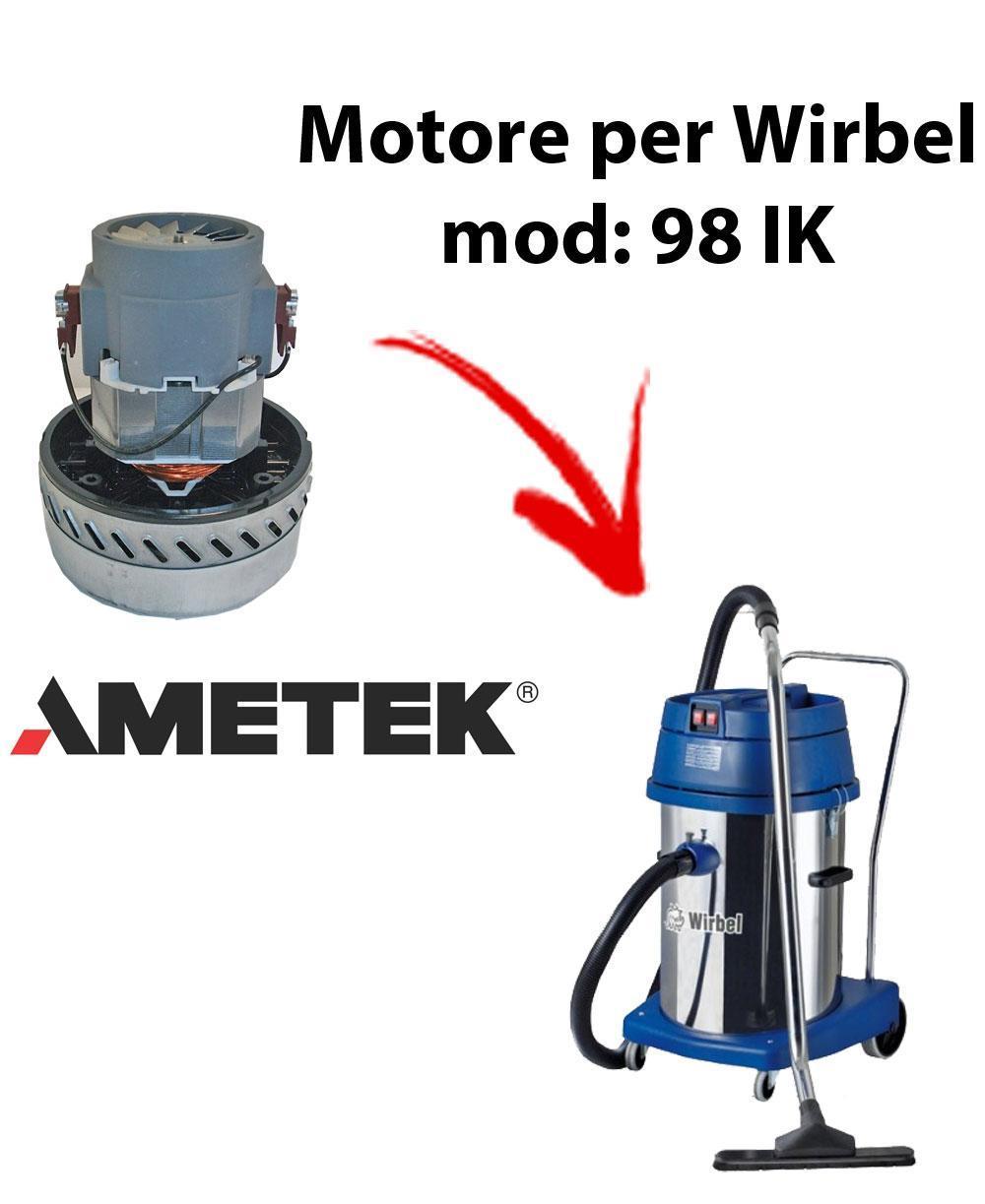 98 IK MOTEUR ASPIRATION AMETEK pour aspirateur et aspirateur WIRBEL
