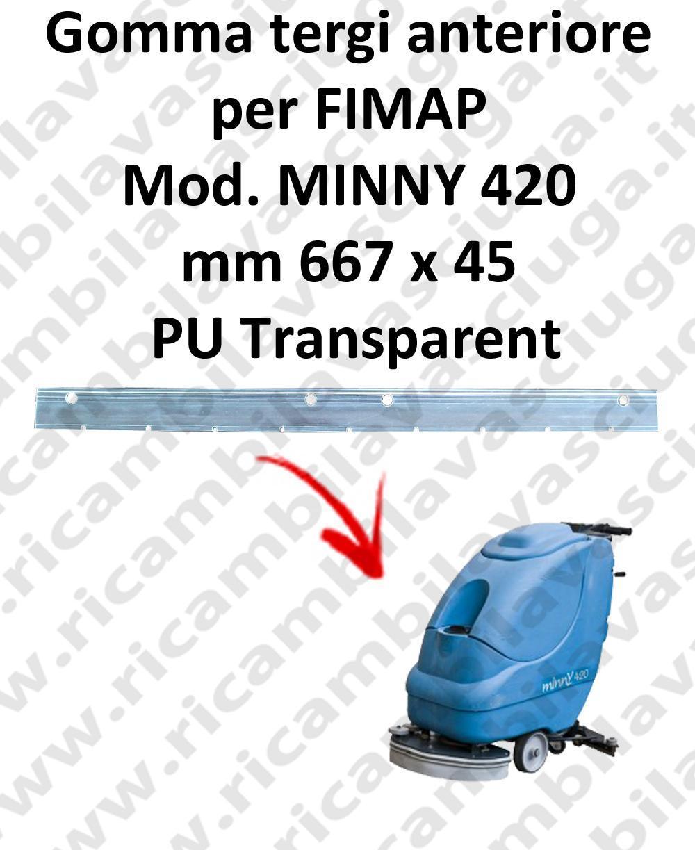 MINNY 420  BAVETTE AVANT pour FIMAP rechange autolaveuses suceur