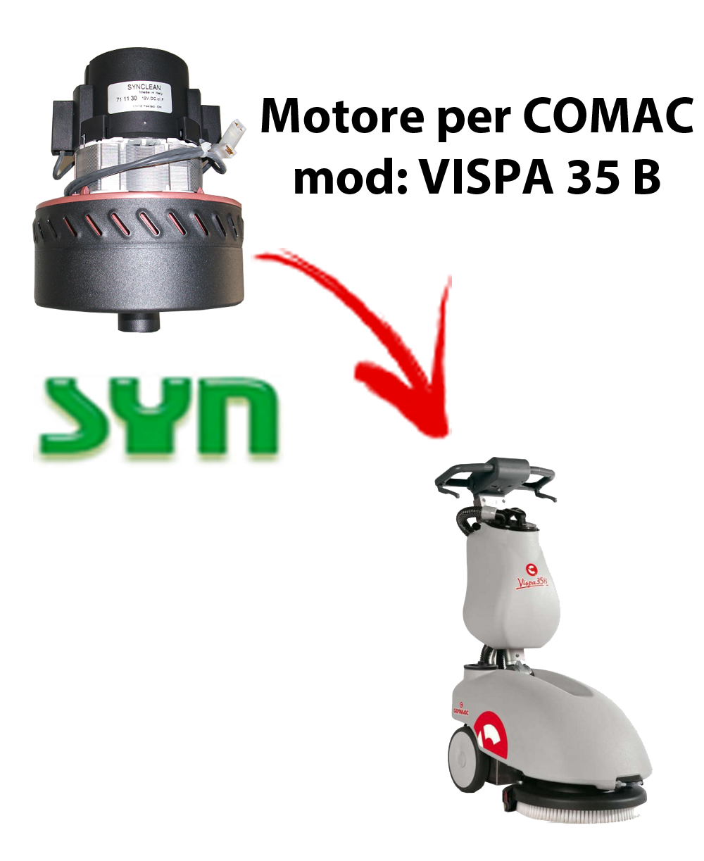 VISPA 35 B MOTEUR ASPIRATION SYN pour autolaveuses Comac