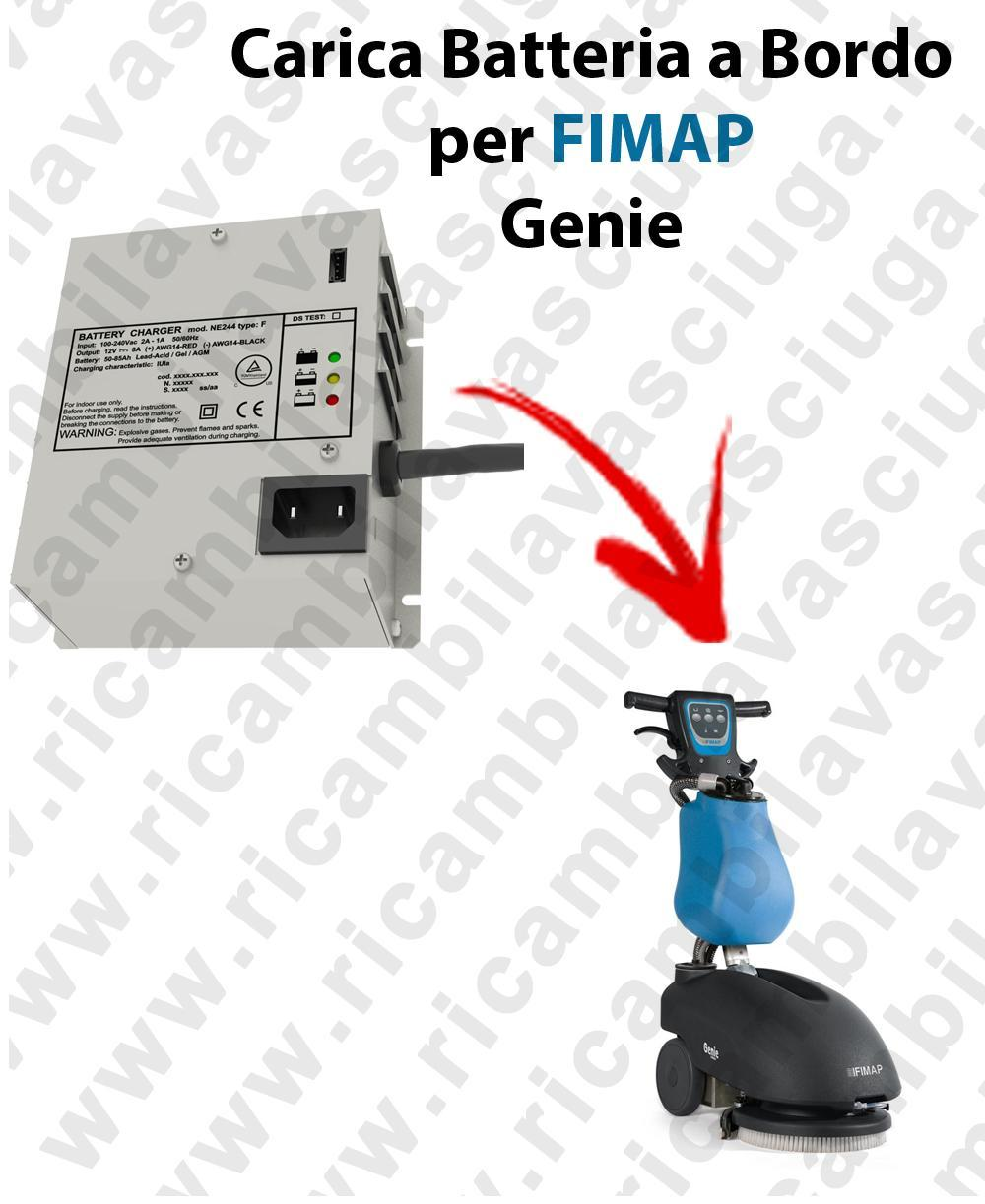 Genie Batterieladegerät auf bord für scheuersaugmaschinen FIMAP