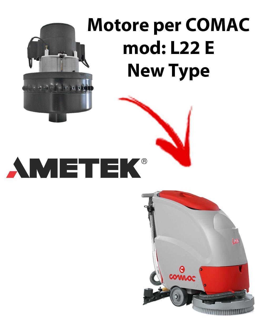 L22E New Type MOTEUR ASPIRATION AMETEK  pour autolaveuses Comac