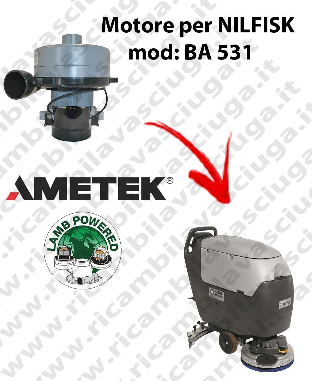 BA 531 MOTEUR ASPIRATION LAMB AMETEK pour autolaveuses NILFISK