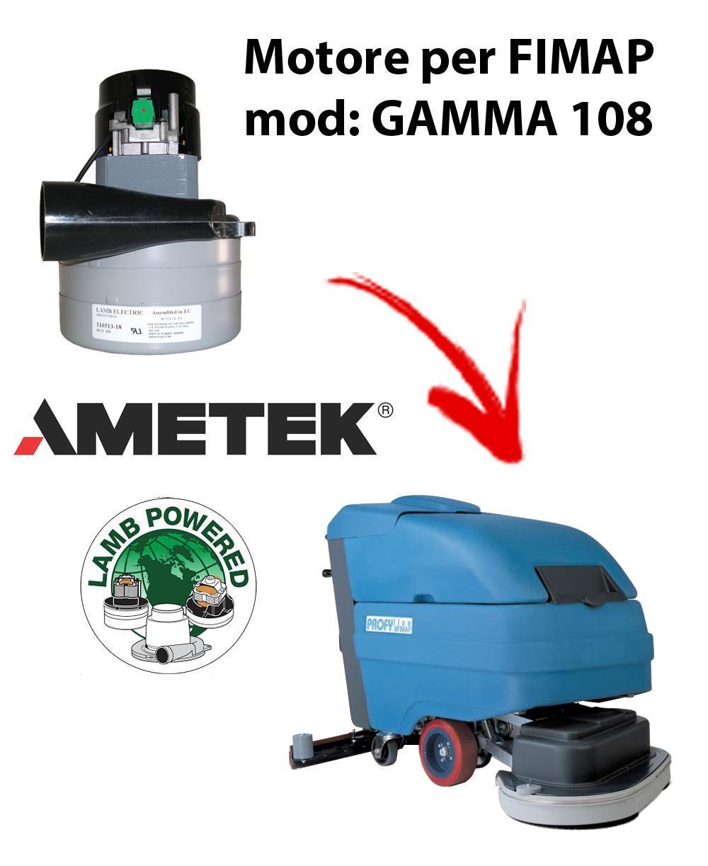GAMMA 108 MOTEUR ASPIRATION AMETEK pour autolaveuses FIMAP