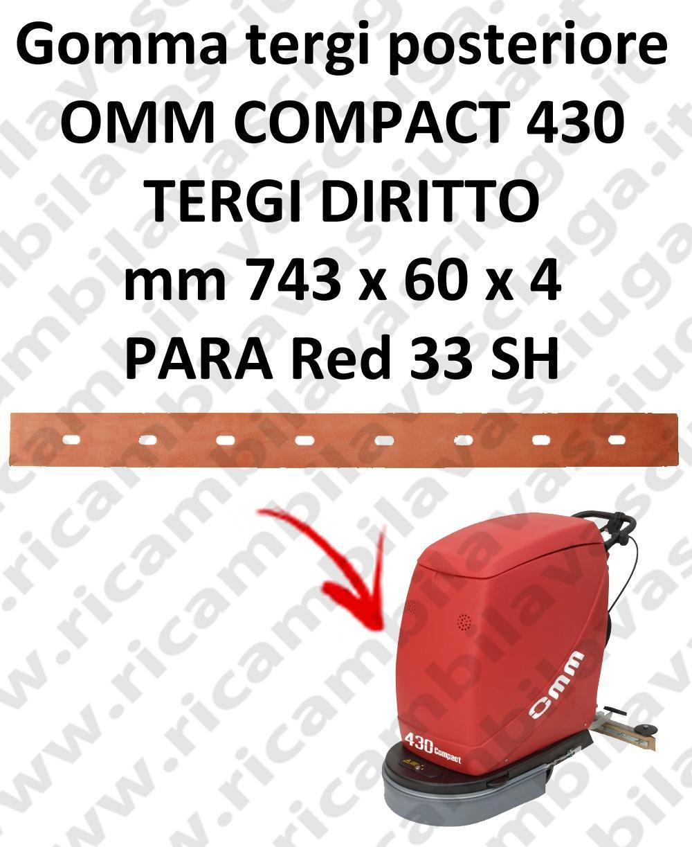 COMPACT 430 gerade saugbalken Hinten sauglippen für scheuersaugmaschinen OMM
