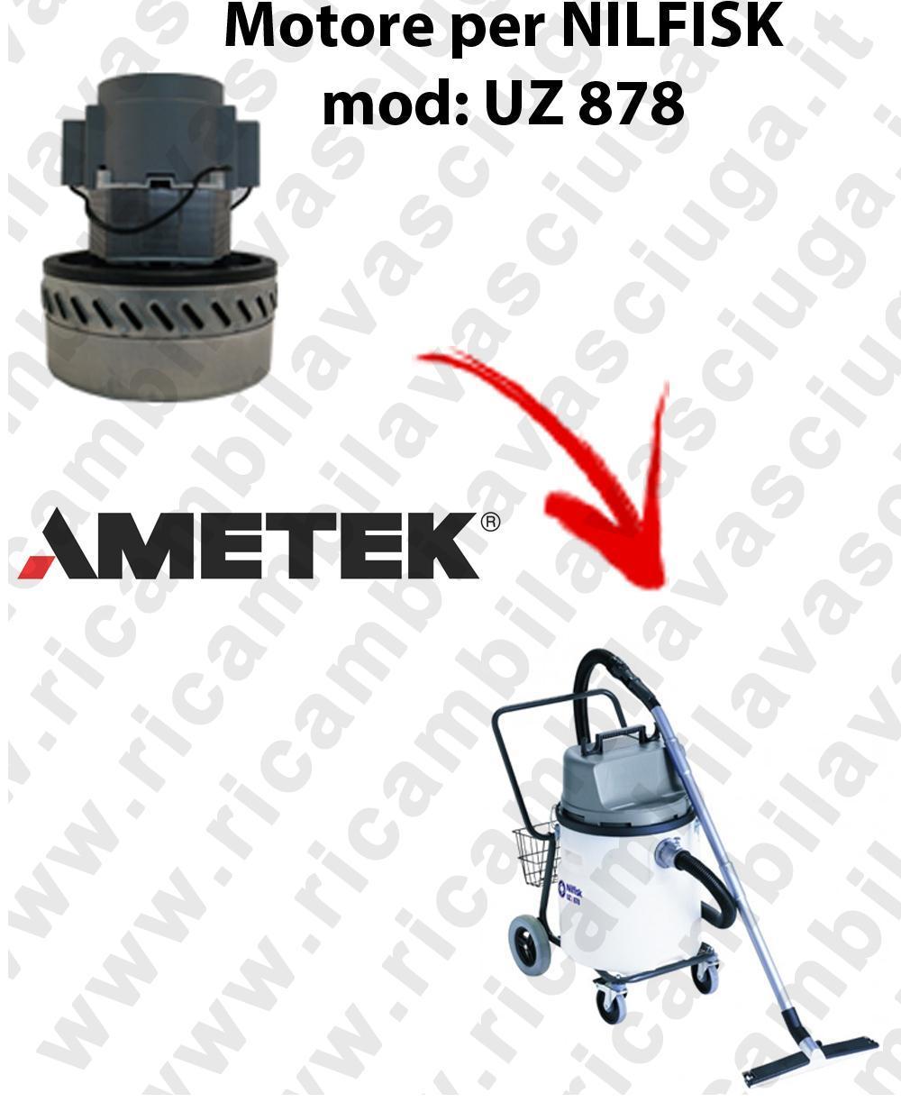 UZ 878 Saugmotor AMETEK für Staubsauger NILFISK