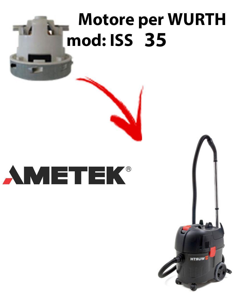 ISS 35 automatic MOTEUR ASPIRATION AMETEK pour aspirateur WURTH