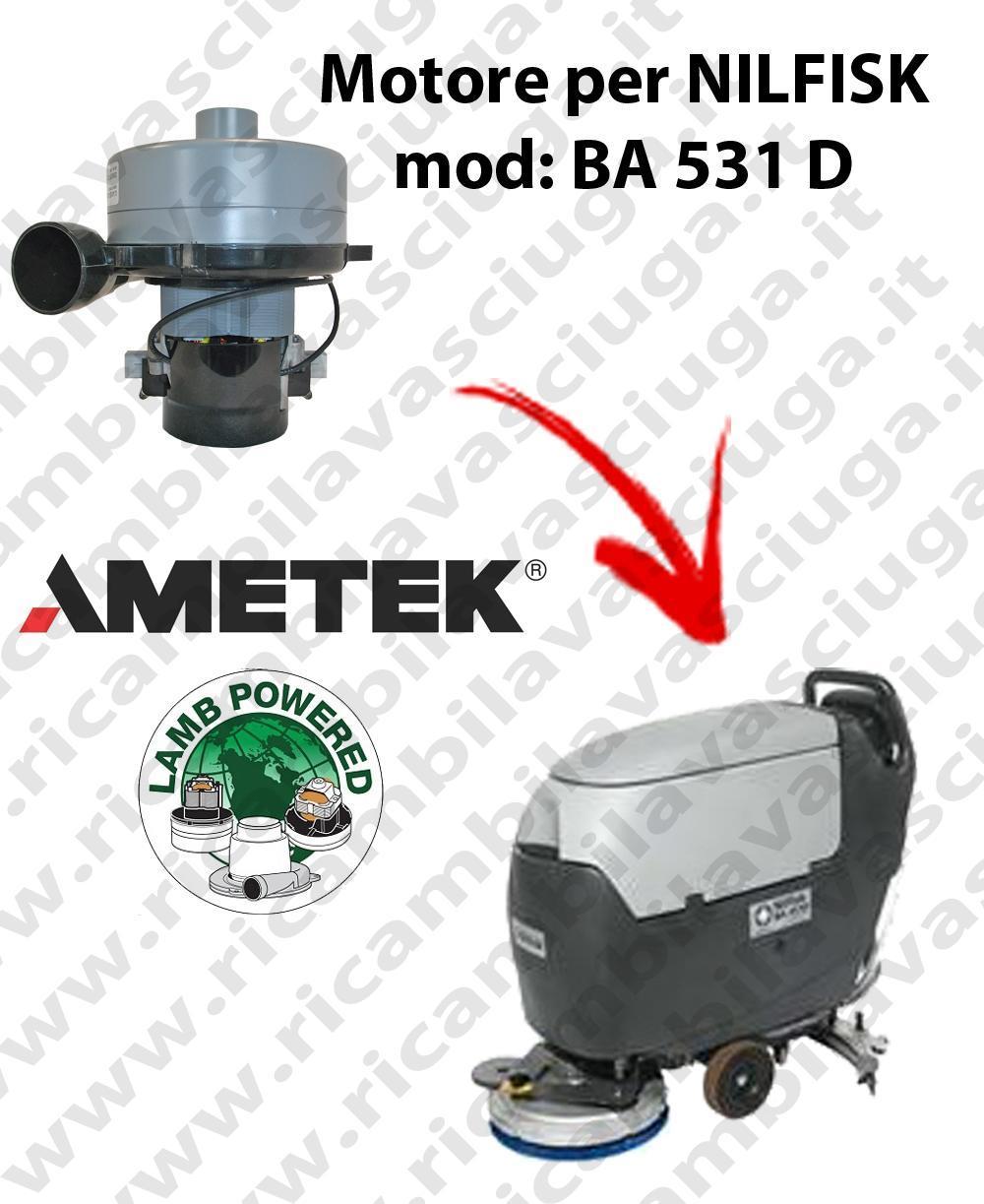 BA 531 D MOTEUR ASPIRATION LAMB AMETEK pour autolaveuses NILFISK