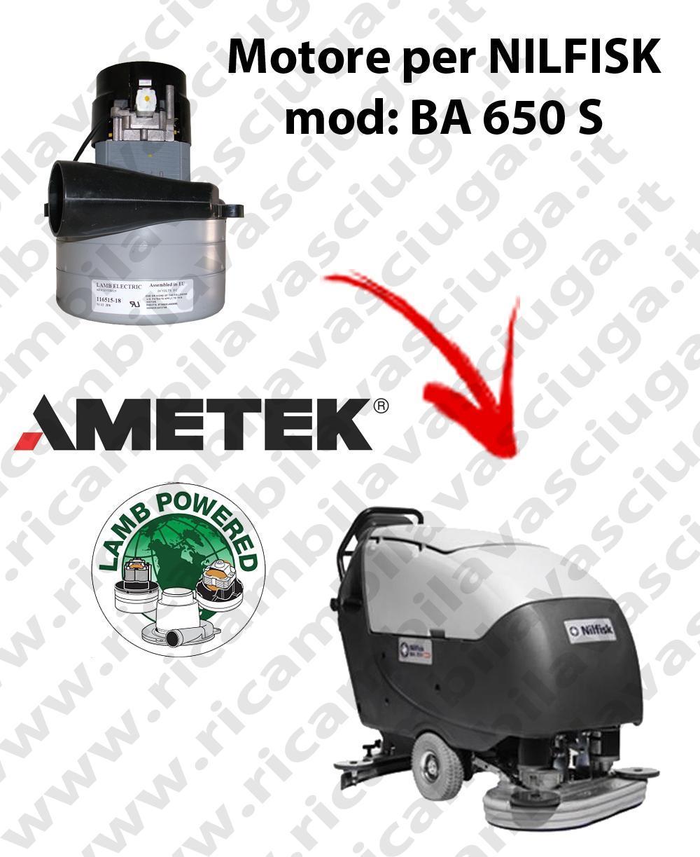 BA 650 S MOTEUR ASPIRATION LAMB AMETEK pour autolaveuses NILFISK