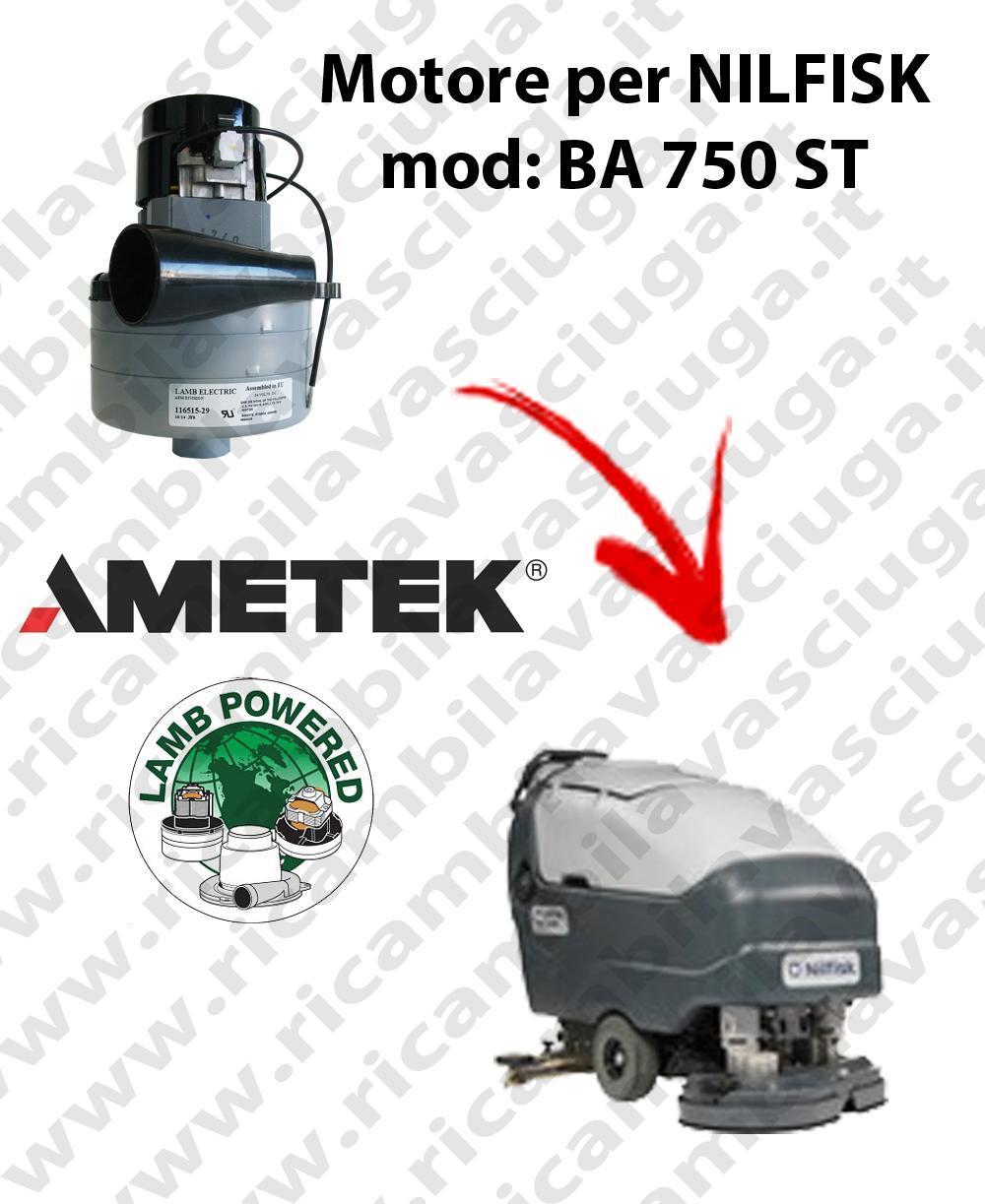 BA 750 ST MOTEUR ASPIRATION LAMB AMETEK pour autolaveuses NILFISK