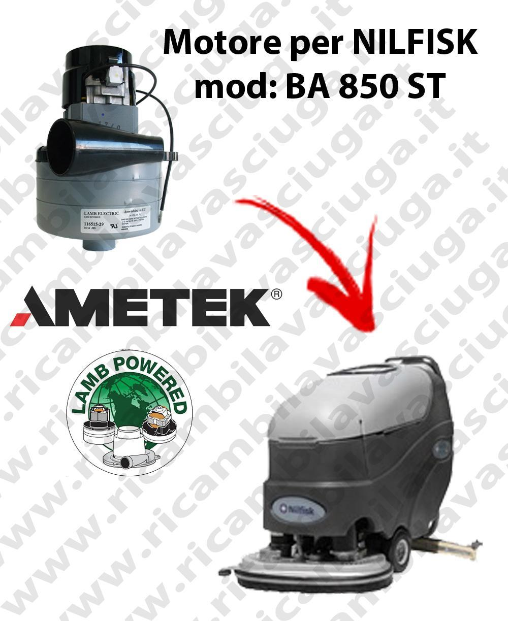 BA 850 ST MOTEUR ASPIRATION LAMB AMETEK pour autolaveuses NILFISK