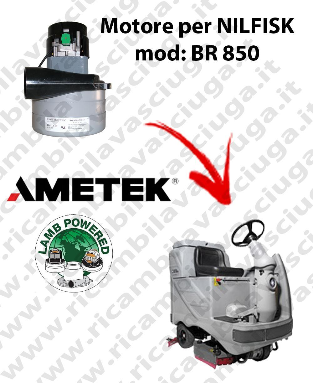 BR 850 MOTEUR ASPIRATION LAMB AMETEK pour autolaveuses NILFISK