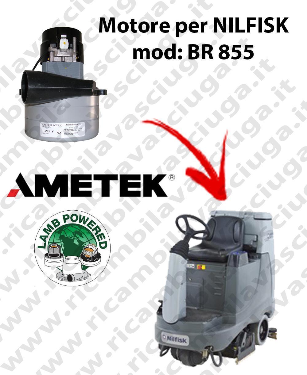 BR 855 MOTEUR ASPIRATION LAMB AMETEK pour autolaveuses NILFISK