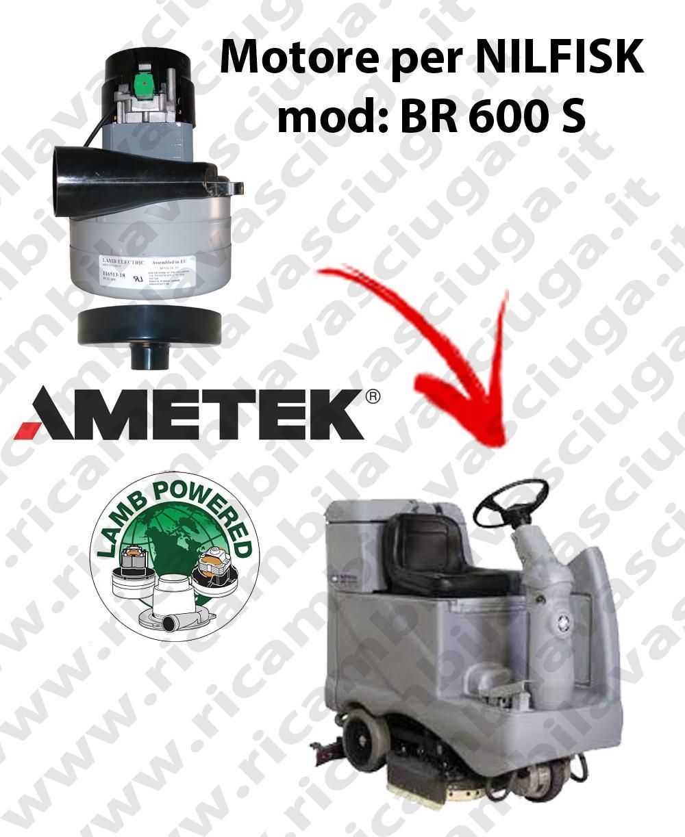 BR 600 S MOTEUR ASPIRATION LAMB AMETEK pour autolaveuses NILFISK